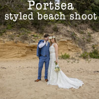 Beach styled shoot at Portsea!