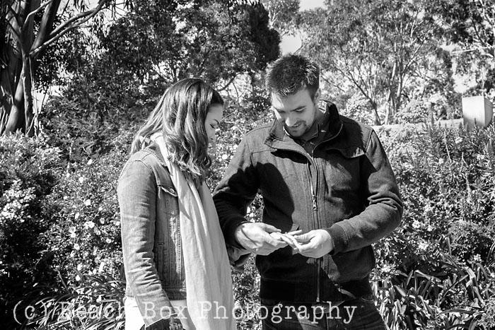 Emily and Hayden's proposal shoot at Dalywaters Garden Chapel